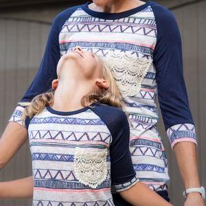 Other - Girls Knit Striped Navy Slub